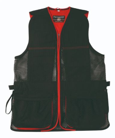 Percussion Red Black Clay Pigeon Shooting Skeet Trap Vest Ambidextrous New